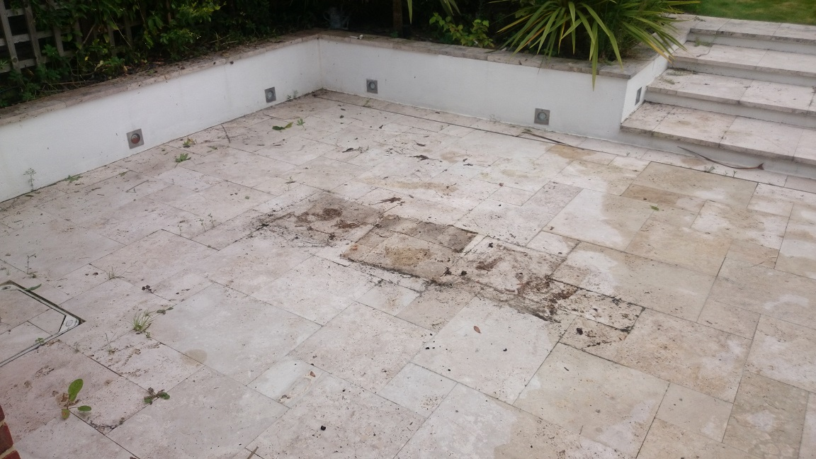 Limestone Patio Cleaning