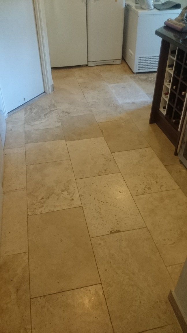 Kingswood, Surrey, KT20 Travertine Floor Restoration