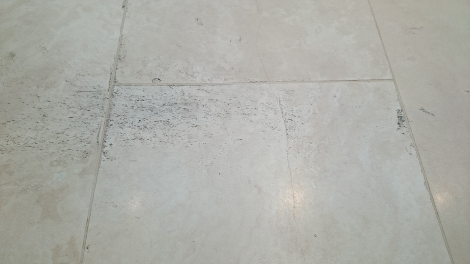 Travertine Floor Restoration Before