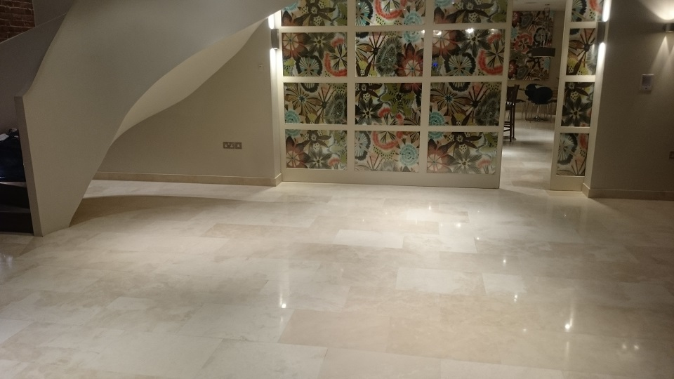 After Travertine Floor Restoration In Mereworth, Kent