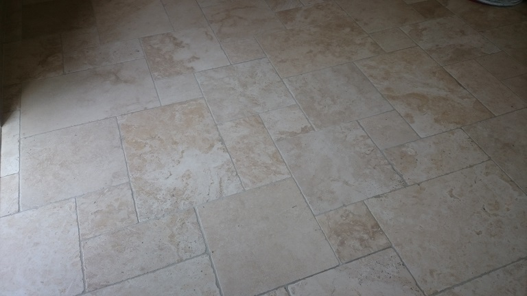 After Cleaning Travertine Floor Sevenoaks, Kent