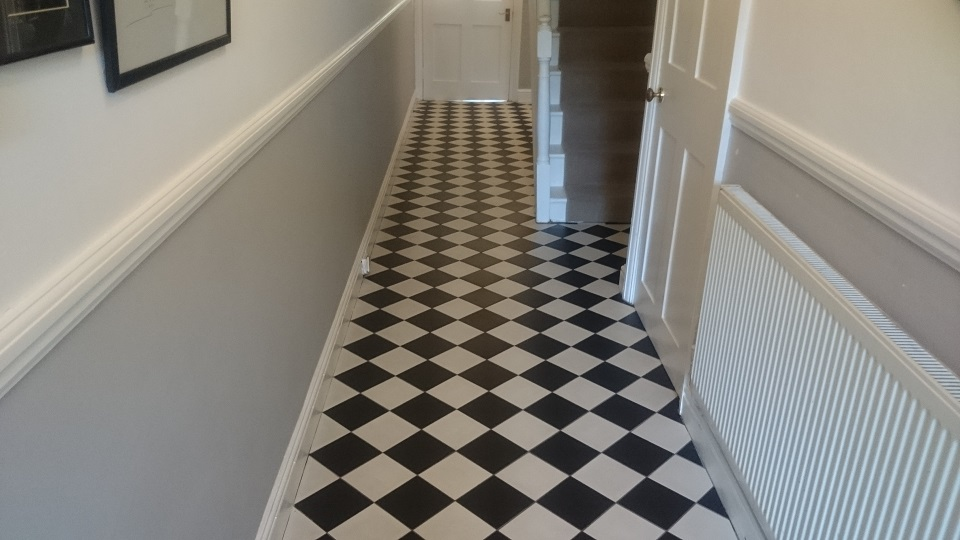 Victorian Tiled Floor Cleaned & Sealed In Sevenoaks
