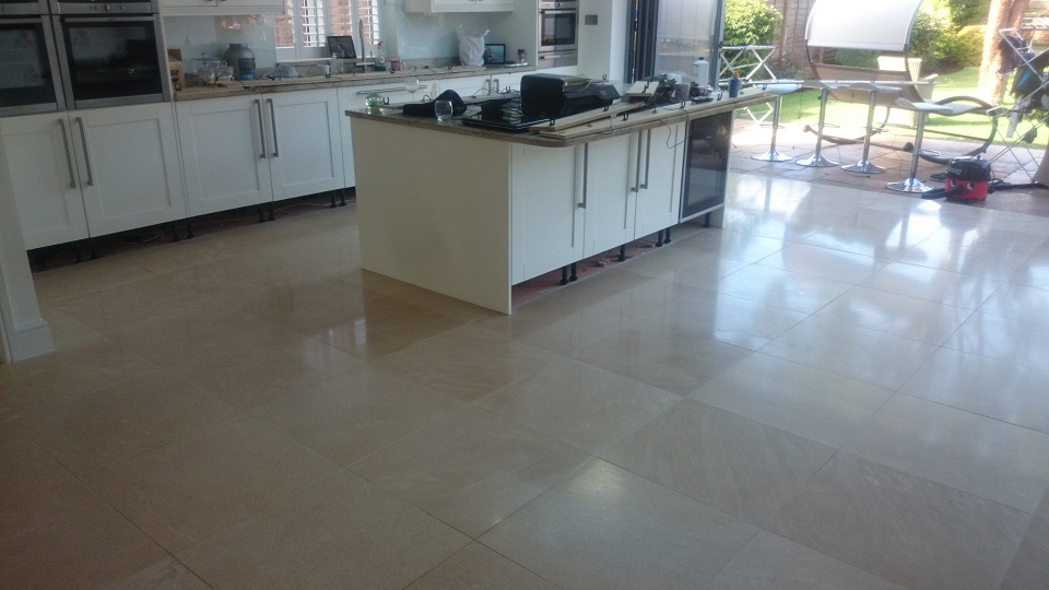 Limestone Floor Restoration in Banstead, Surrey