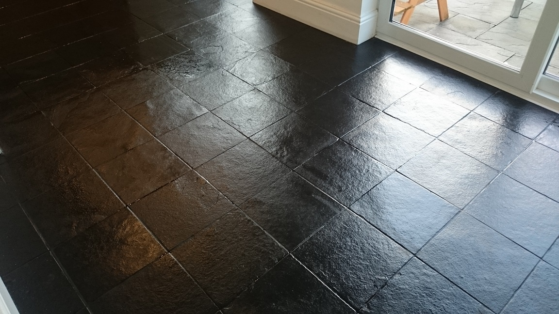 black slate floor tiles. Black Slate Floor Tile Cleaning And Sealing Tiles S