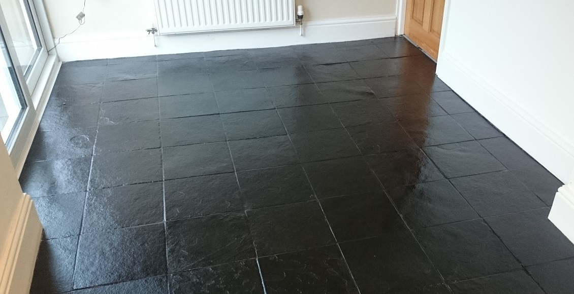 Black Slate Floor Tile Cleaning