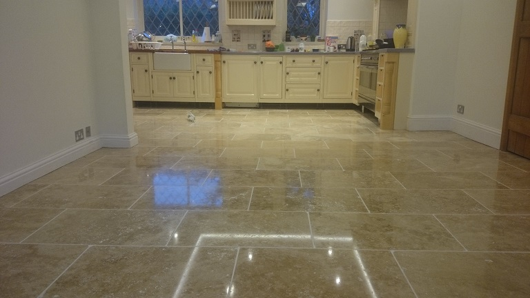 Restored Travertine To A High Shine