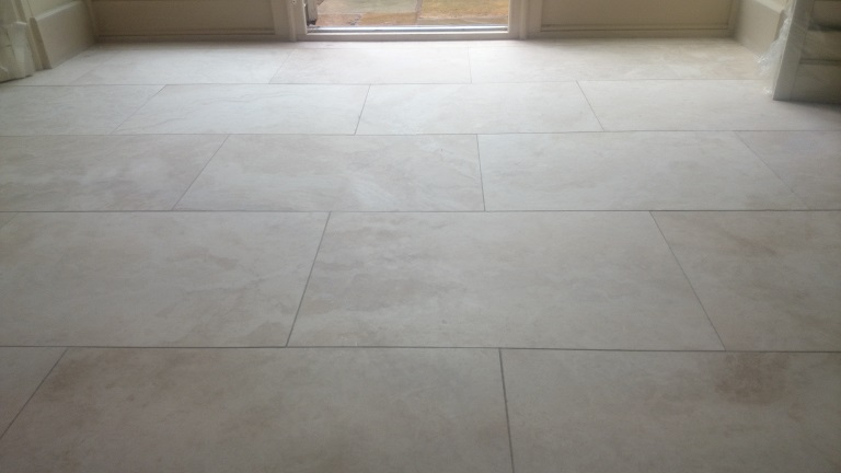 Restored Travertine To A Honed Finished