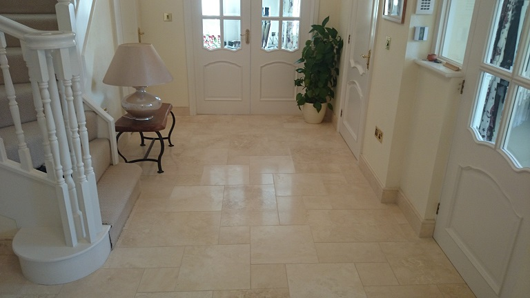 Restored Travertine To A Sheen Finish